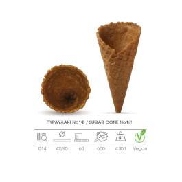 Sugar Cones For  Gelato Sticks