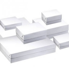 Boxes pastry white